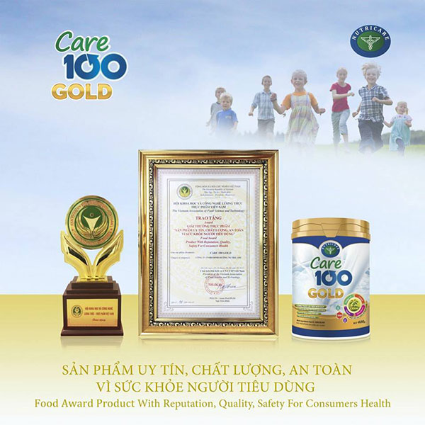 Sữa Care 100 Gold chứng nhận sản phẩm an toàn