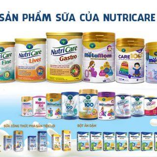 Các sản phẩm Nutricare